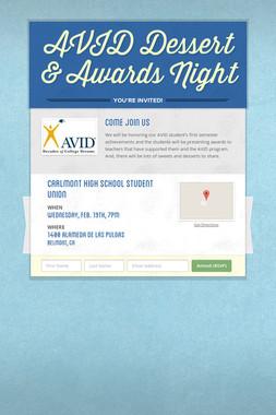 AVID Dessert & Awards Night
