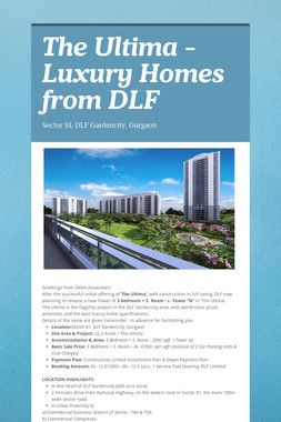The Ultima - Luxury Homes from DLF