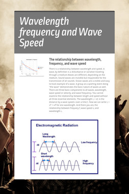 Wavelength frequency and Wave Speed