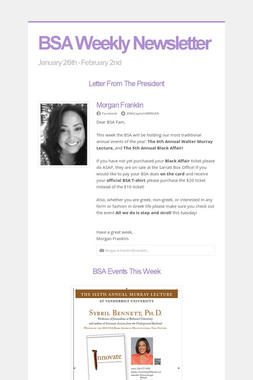 BSA Weekly Newsletter