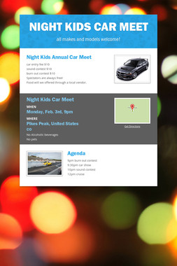 Night Kids Car Meet