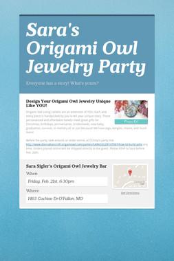 Sara's Origami Owl Jewelry Party