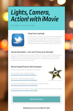 Lights, Camera, Action! with iMovie