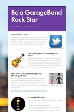 Be a GarageBand Rock Star