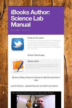 iBooks Author: Science Lab Manual
