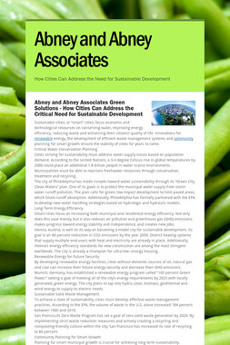 Abney and Abney Associates