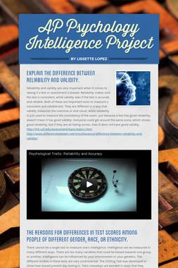 AP Psychology Intelligence Project