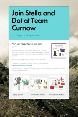 Join Stella and Dot at Team Curnow