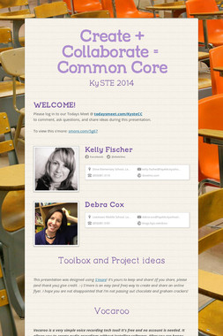 Create + Collaborate = Common Core