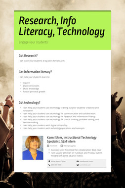 Research, Info Literacy, Technology