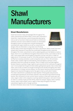Shawl Manufacturers