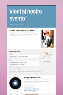 Vieni al nostro evento!