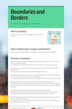 Boundaries and Borders