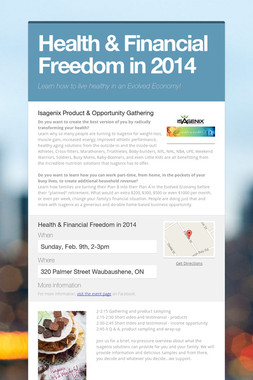 Health & Financial Freedom in 2014