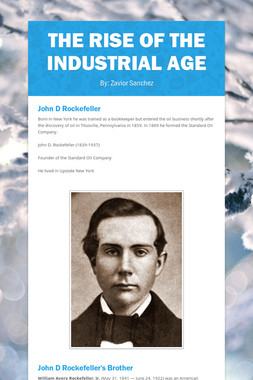 The Rise Of The Industrial Age