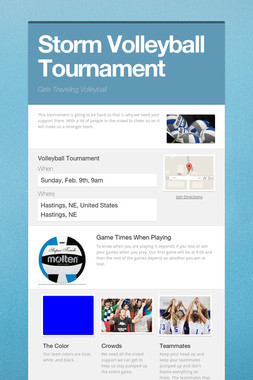 Storm Volleyball Tournament