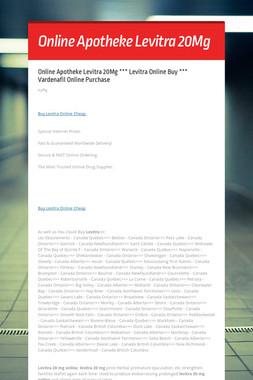 Online Apotheke Levitra 20Mg