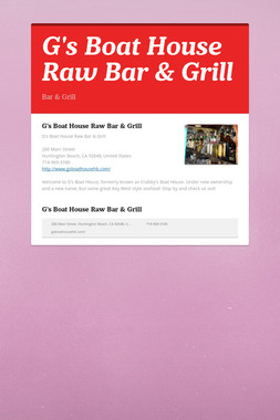G's Boat House Raw Bar & Grill