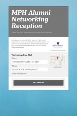 MPH Alumni Networking Reception