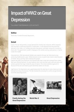 Impact of WW2 on Great Depression