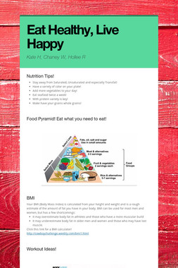 Eat Healthy, Live Happy