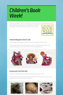 Children's Book Week!