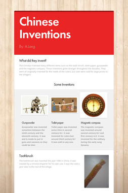 Chinese Inventions