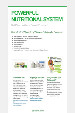 POWERFUL NUTRITIONAL SYSTEM