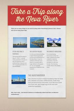 Take a Trip along the Neva River