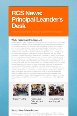 RCS News: Principal Leander's Desk