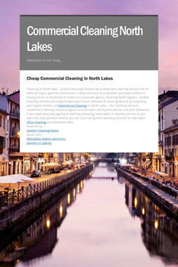 Commercial Cleaning North Lakes