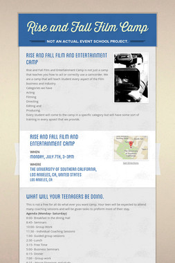 Rise and Fall Film  Camp