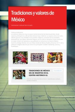Tradiciones y valores de México