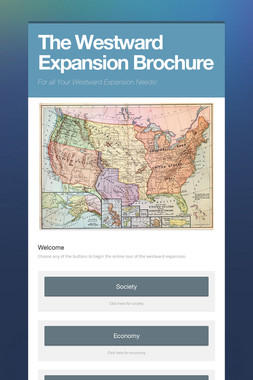 The Westward Expansion Brochure
