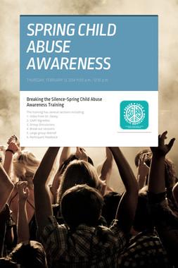 SPRING CHILD ABUSE AWARENESS