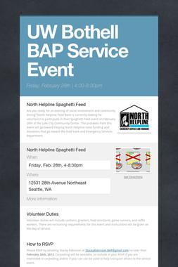 UW Bothell BAP Service Event