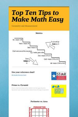 Top Ten Tips to Make Math Easy