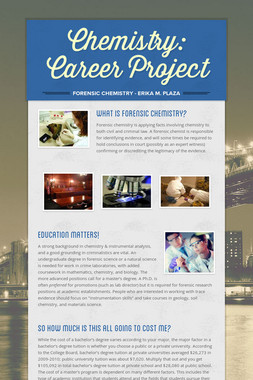 Chemistry: Career Project