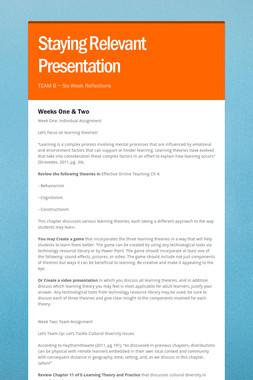 Staying Relevant Presentation