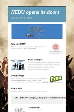 HEBU opens its doors