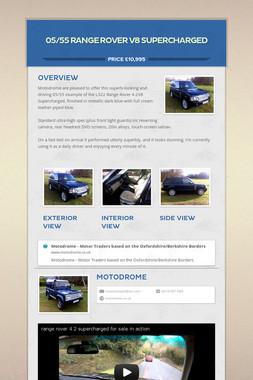 05/55 RANGE ROVER V8 SUPERCHARGED