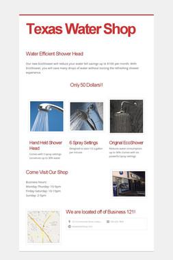 Texas Water Shop
