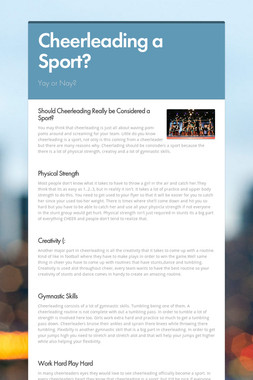 Cheerleading a Sport?