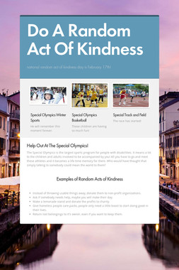 Do A Random Act Of Kindness