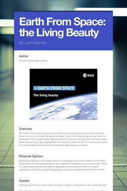 Earth From Space: the Living Beauty