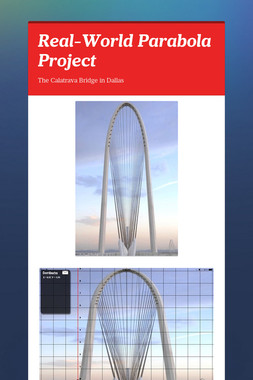 Real-World Parabola Project