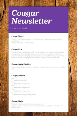 Cougar Newsletter