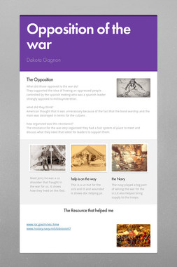 Opposition of the war