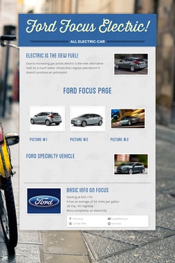 Ford Focus Electric!