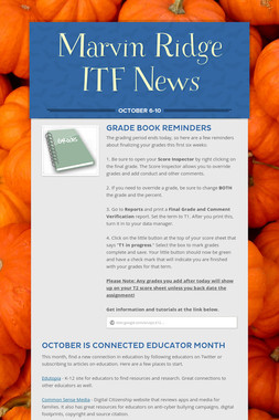 Marvin Ridge ITF News